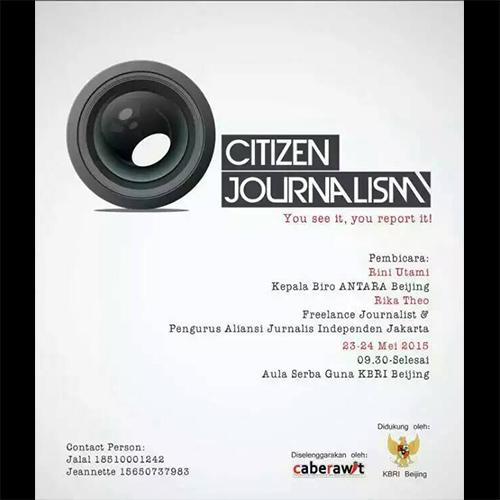 [Kegiatan] Cabe Rawit: Citizen Journalism!